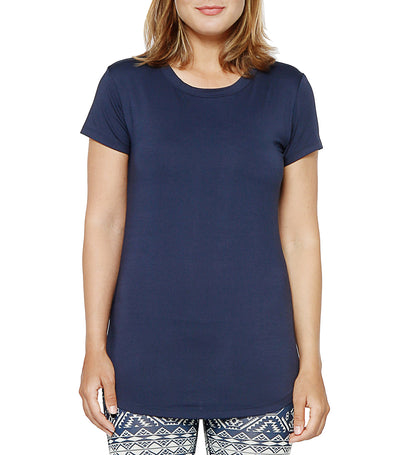 atsui kaba short-sleeved crew neck tee navy blue