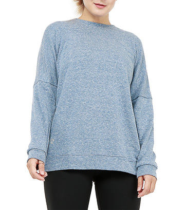 atsui katsumi long-sleeved top blue