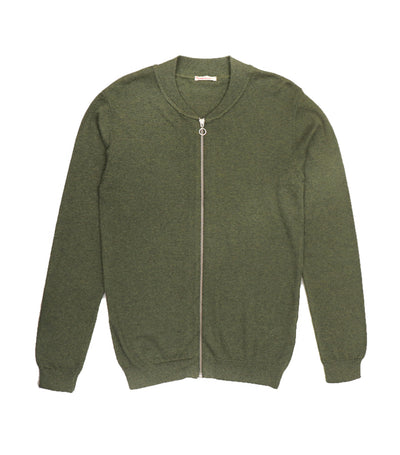 knowledge cotton apparel cotton/ cashmere cardigan green
