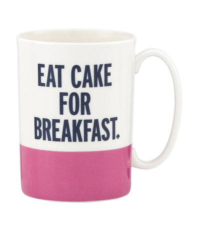 kate spade new york things we love – eat cake for breakfast mug