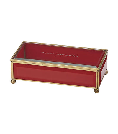 kate spade new york out of the box red jewelry box