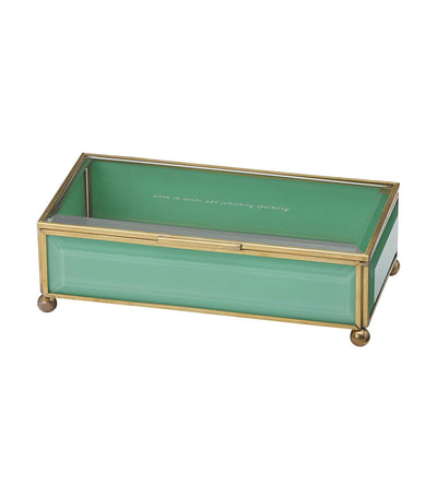 kate spade new york out of the box turquoise jewelry box