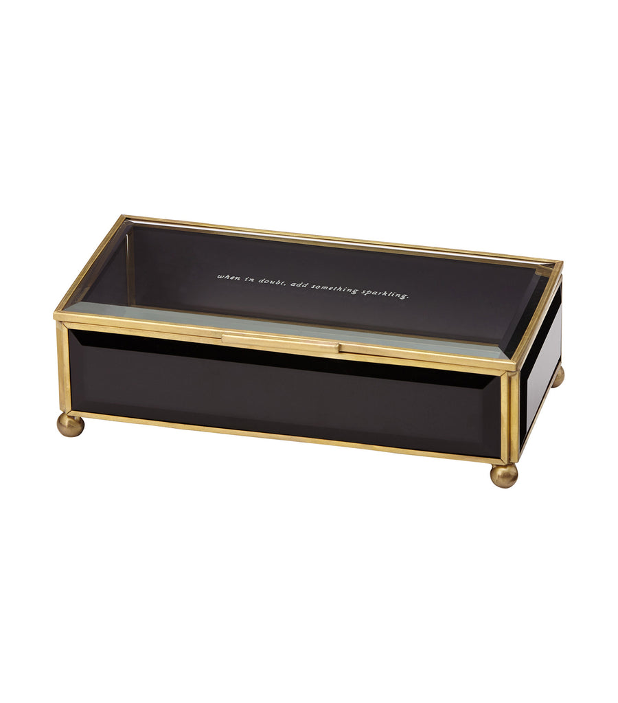 kate spade new york out of the box black jewelry box