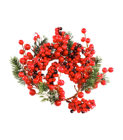 Rustan's The Christmas Shop Foam Berry Wreath - Red/Green