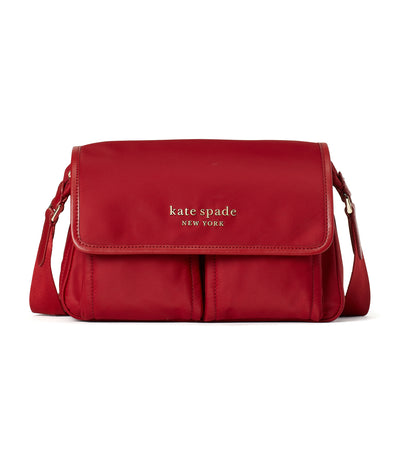 Daily Medium Messenger Bag Red Currant