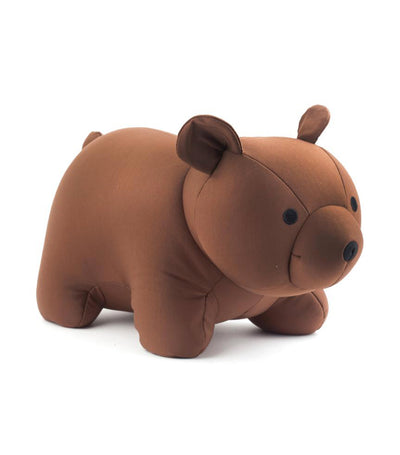 Kikkerland Zip and Flip Bear Head Pillow Brown