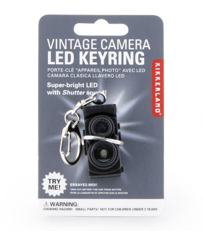 Kikkerland Vintage Camera Led Keychain Black