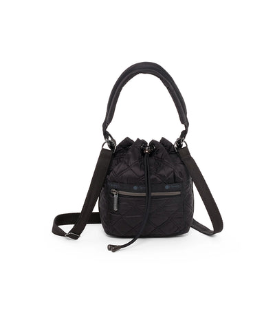 lesportsac matellase black quilted aria crossbody bag