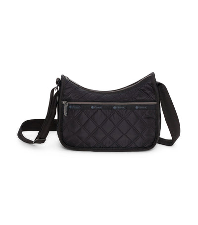 lesportsac matelasse black quilted classic hobo bag