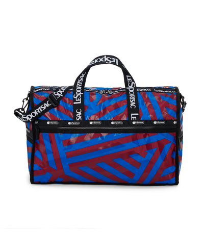 lesportsac aerial twist blue large weekender