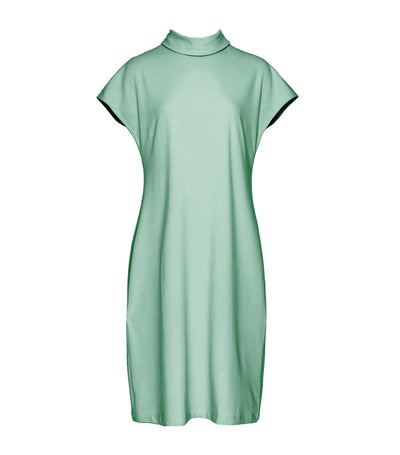 Aria Cowlneck Midi Dress Light Green