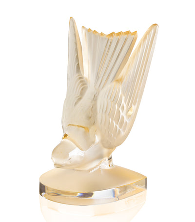 Lalique Swallow Paperweight - Gold Luster