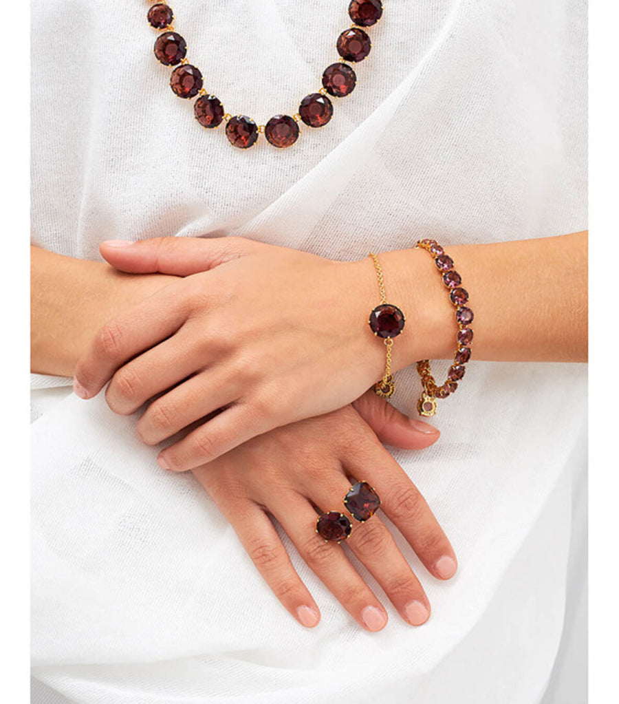 les néréides you and i plum stones ring