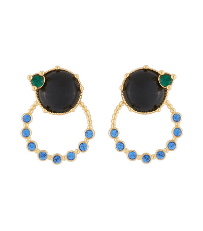 les néréides ring and blue stone stud earrings