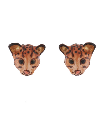 les néréides wild ocelot stud earrings