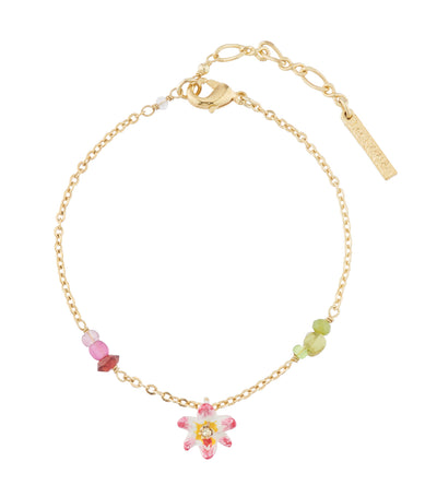 les néréides tropical flower and crystal beads charms bracelet