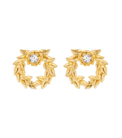 les néréides crown of laurels stud earrings