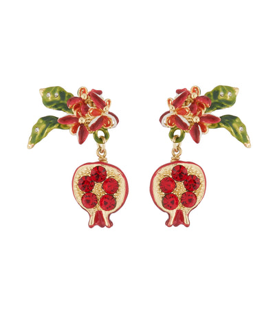 les néréides pomegranate dangling stud earrings