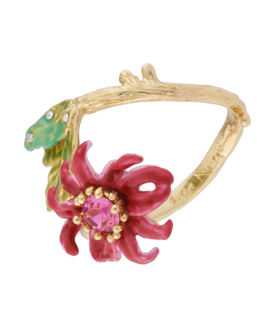 les néréides passion flower adjustable ring