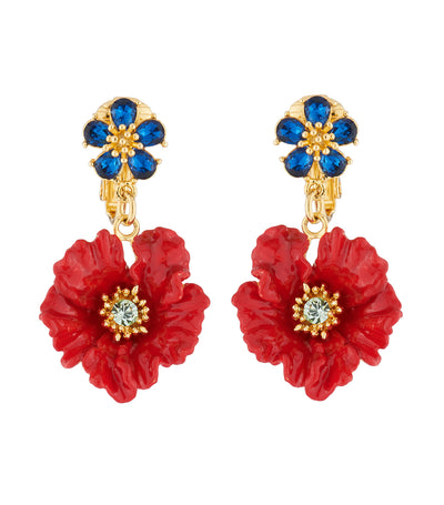 les néréides poppy clip-on earrings
