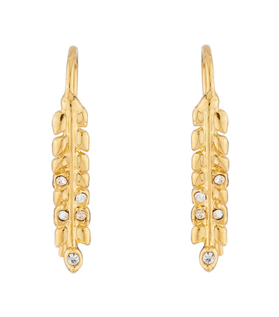 les néréides ears of wheat hook earrings