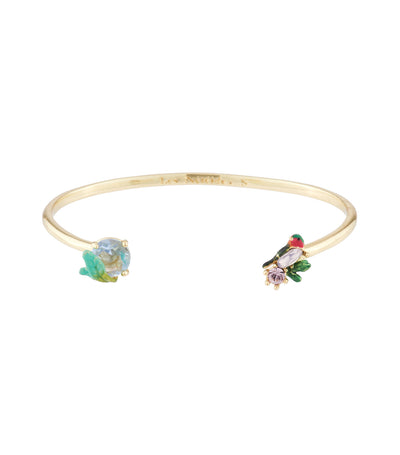 les néréides robin and carved crystal bangle bracelet