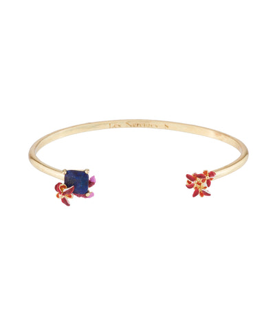 les néréides passion flower, feline paws and carved crystal bangle bracelet