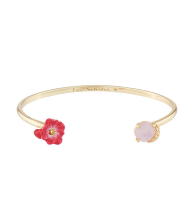 les néréides poppy, heart and carved crystal bangle bracelet