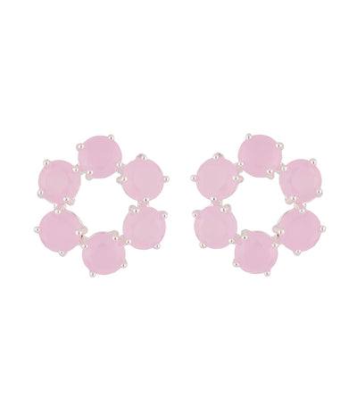 les néréides la diamantine with 6 stones small hoops stud earrings
