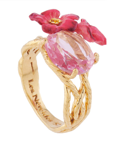 Oleander Blossom Cocktail Ring