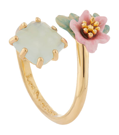 Citrus Flower and Stone Ring