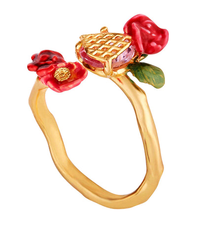 Wild Roses and Trellis Ring