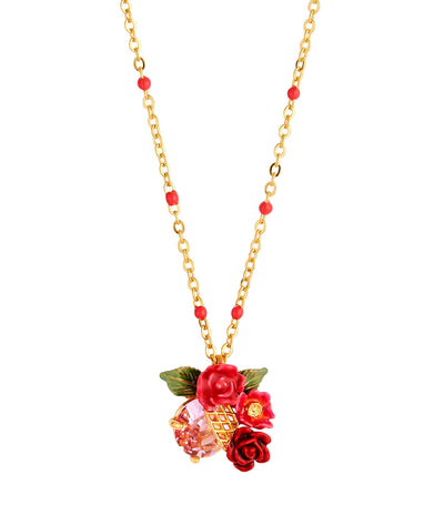 Rose Bouquet Trellis Necklace