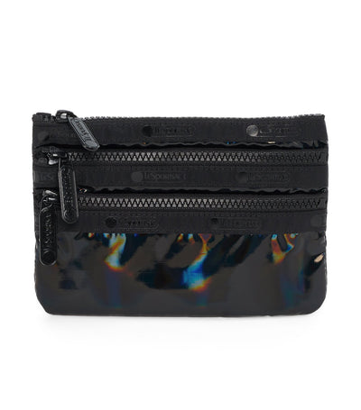 lesportsac polaris night 3-zip cosmetic bag
