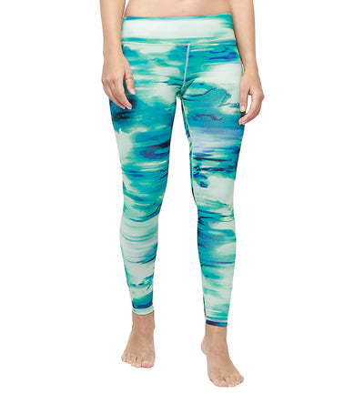 atsui maru 7/8 leggings printed green