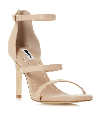 Maxxine High Block Heel Sandals Nude
