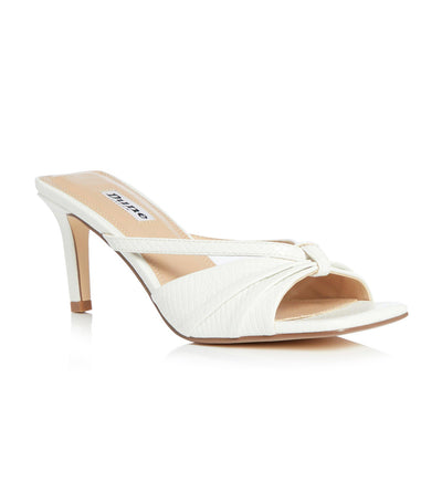 Melissaa Di Heeled Mule Sandals White