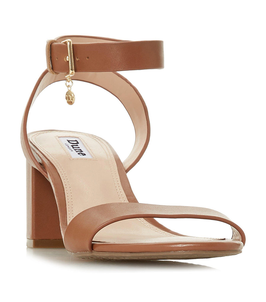 Memee Mid Block Heel Sandals Tan