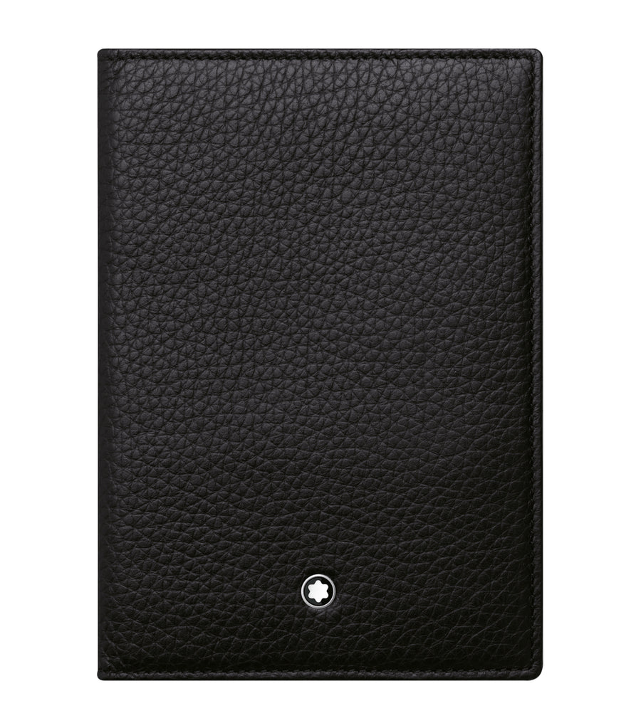 montblanc meisterstã¼ck soft grain passport holder black