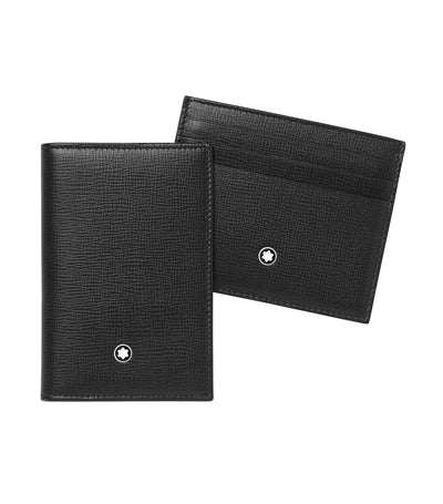 Business Card Holder and Pocket Holder 6cc Gift Set Black