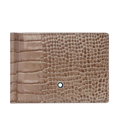 Meisterstück Selection 6cc Wallet with Money Clip Taupe