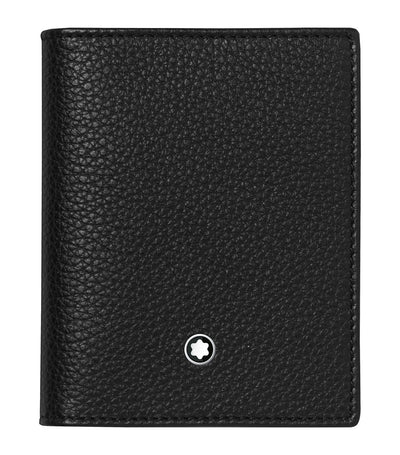 Meisterstück Soft Grain Business Card Holder with View Pocket Black
