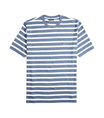 Supima® Cotton Stripe T-Shirt Navy