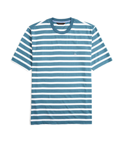 Supima® Cotton Stripe T-Shirt Provincial Blue