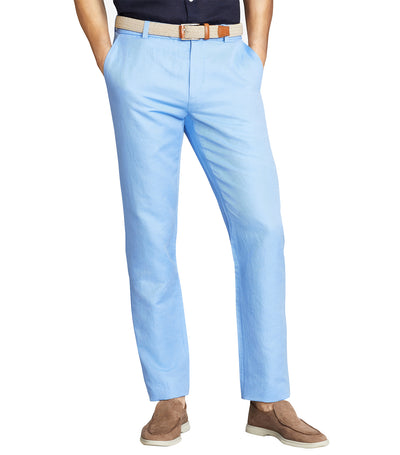 Milano Fit Linen and Cotton Chino Pants Cornflower Blue