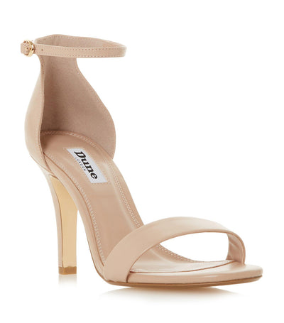 Mydro Leather High Heel Sandals Nude