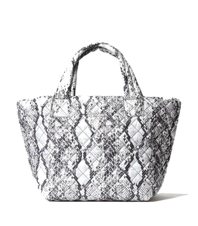 Small Metro Tote Deluxe Gray Snake