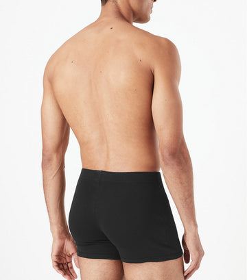5 Pack Cotton Trunks Black