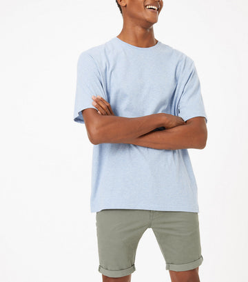 Cotton Stretch 5-Pocket Shorts Khaki
