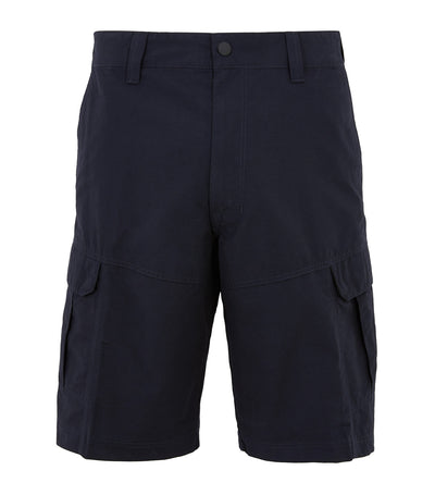 Regular Fit Cotton Rich Shorts with Stretch Navy